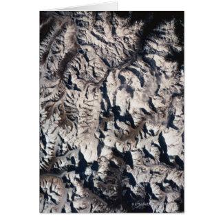 Ansicht eines Gebirgszugs Karte