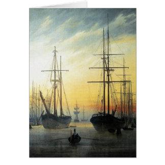 Ansicht eines Hafens - Caspar David Friedrich Karte