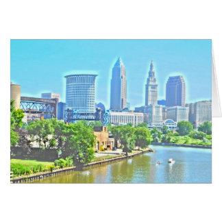 Ansicht-Gruß-Karte Clevelands, der Ohio Grußkarte