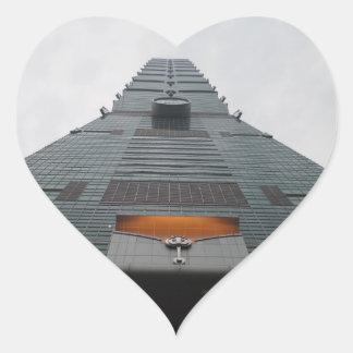 Ansicht-Herz-Aufkleber Taipehs 101 Herz-Aufkleber