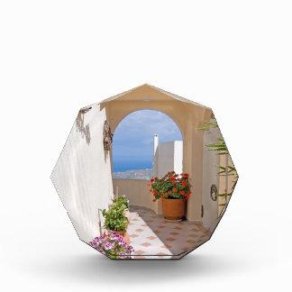 Ansicht in Santorini Insel Acryl Auszeichnung