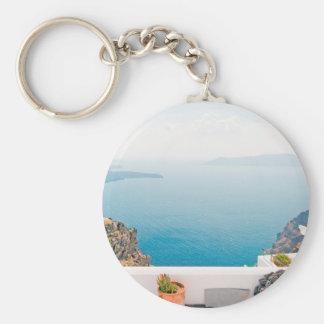Ansicht in Santorini Insel Schlüsselanhänger