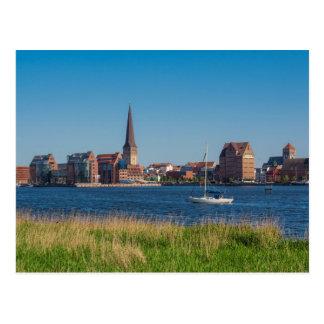 Ansicht nach Rostock in Deutschland Postkarte