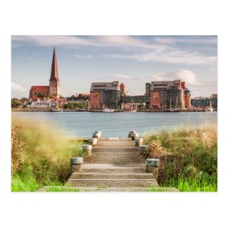 Ansicht nach Rostock Postkarte