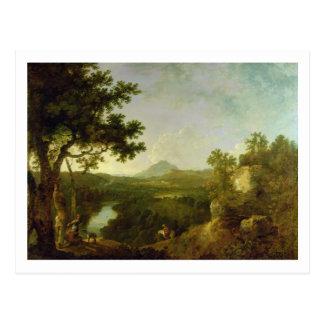 Ansicht nahe Wynnstay, Seat von Sir Watkin William Postkarte