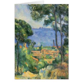 Ansicht Pauls Cezanne- von L'Estaque und Chateaux Karte