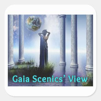 Ansicht-Quadrat-Aufkleber Gaia Scenics Quadratischer Aufkleber