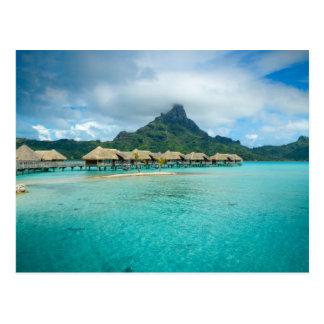 Ansicht über Bora Bora Inselpostkarte Postkarte