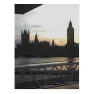 Ansicht über London von London-Auge, England 22 Postkarte