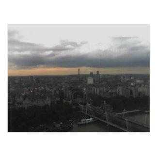 Ansicht über London von London-Auge, England 2 Postkarte