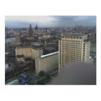 Ansicht über London von London-Auge, England 4 Postkarte