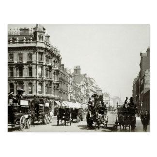 Ansicht-unten Oxford-Straße, London (b/w Foto) Postkarte