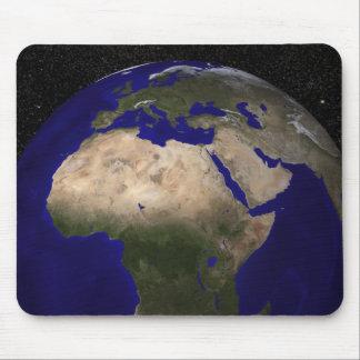 Ansicht von Afrika, Europa, das Mittlere Osten und Mousepad