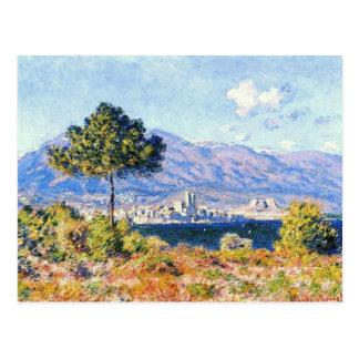 Ansicht von Antibes von der Hochebene Notre-Dame Postkarte