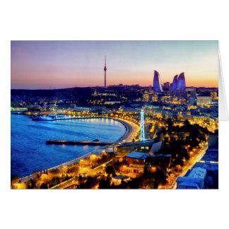 Ansicht von Baku Karte