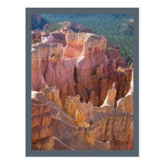 Ansicht von Bryce Schlucht mit PastellHoodoos Postkarte