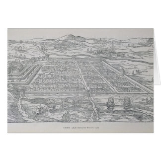 Ansicht von Cusco, von Ramusio, Kneipe. 1556 Karte