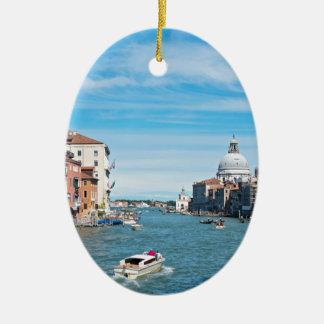 Ansicht von der Brücke in Venedig Keramik Ornament