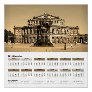 """Ansicht von Dresden""""/Kalender 2016 DINA4 Poster"""