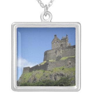 Ansicht von Edinburgh-Schloss, Edinburgh, Versilberte Kette