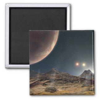 Ansicht von einem hypothetischen Mond in der Bahn Quadratischer Magnet