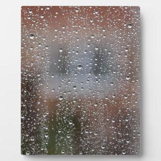 Ansicht von einem nassen Fenster Fotoplatte