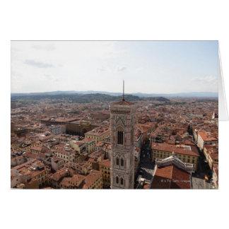 Ansicht von Florenz von der Spitze des Duomo Sankt Karte