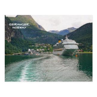 Ansicht von Geiranger, Geirangerfjord, Norwegen Postkarte