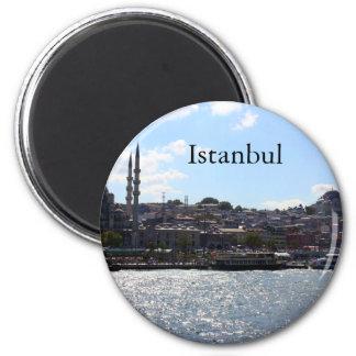 Ansicht von Istanbul-Hafen Runder Magnet 5,1 Cm