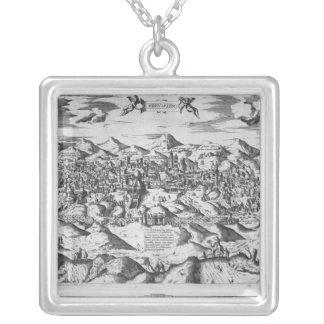 Ansicht von Jerusalem, 1570? Versilberte Kette