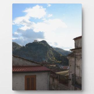Ansicht von Laino Castello Fotoplatte