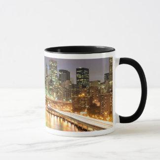 Ansicht von Lower Manhattan und von Tasse