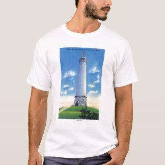 Ansicht von Myles Standish Monument T-Shirt
