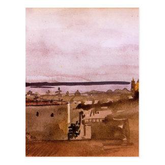 Ansicht von Neapel durch Edgar Degas Postkarte