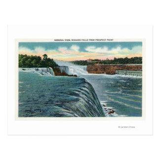 Ansicht von Niagara Falls vom Aussicht-Punkt Postkarte