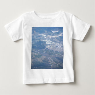 Ansicht von oben baby t-shirt