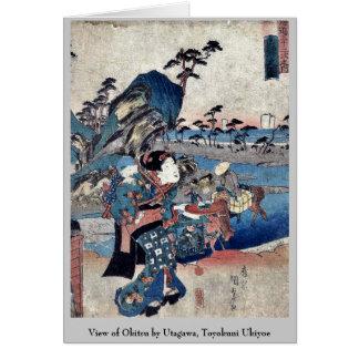 Ansicht von Okitsu durch Utagawa, Toyokuni Ukiyoe Mitteilungskarte
