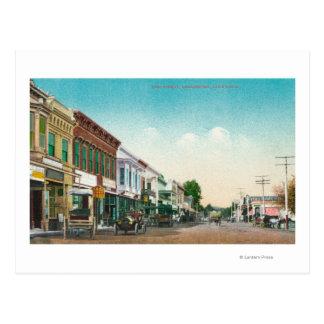 Ansicht von OstStreetHealdsburg, CA Postkarte