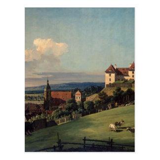 Ansicht von Pirna vom Sonnenstein Schloss durch Postkarte