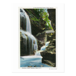 Ansicht von Regenbogen-Fällen 2 Postkarte