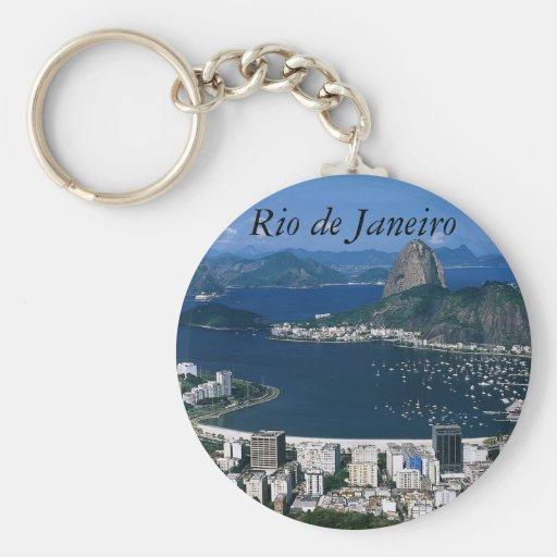 Ansicht von Rio de Janeiro Keychain Schlüsselanhänger