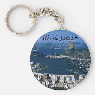 Ansicht von Rio de Janeiro Keychain Standard Runder Schlüsselanhänger