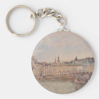 Ansicht von Salzburg durch Rudolf von Alt Schlüsselanhänger