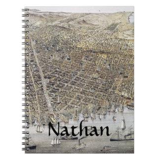 Ansicht von San Francisco, 1878 Notizblock