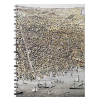 Ansicht von San Francisco, 1878 Spiral Notizblock