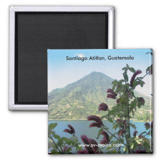 Ansicht von Santiago Atitlan, Guatemala Quadratischer Magnet