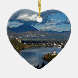 Ansicht von See geblutet von Ojstrica Keramik Herz-Ornament
