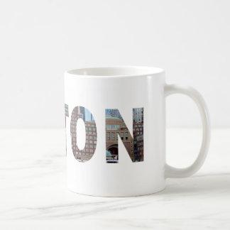 Ansicht von Südboston in den Buchstaben Kaffeetasse