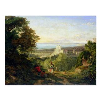 Ansicht von Terracina und von Monte Circeo, 1833 Postkarte