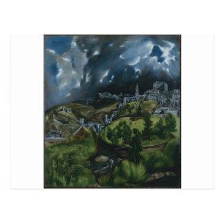 Ansicht von Toledo durch El Greco Postkarte